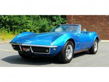 1968 Chevrolet Corvette C3 Bleu LeMans décapotable 1968 Prix tout compris