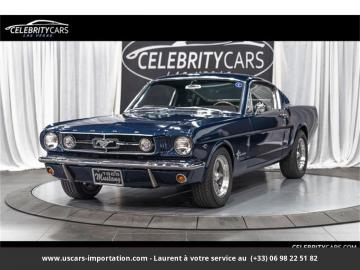 1965 Ford Mustang Fastback Pony Pack V8 289 1965 Prix tout compris