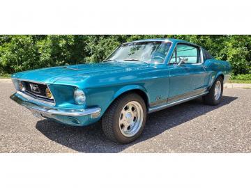 1968 Ford Mustang Fastback J code V8 302 Prix tout compris