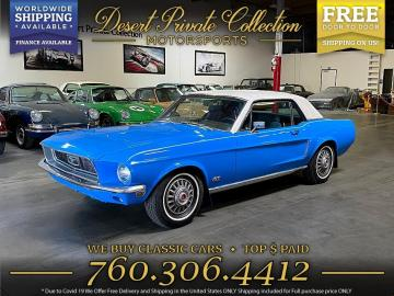 1968 ford mustang V8 S Code 1968 Prix tout compris