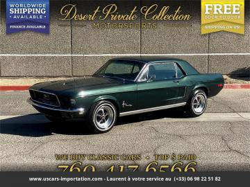 1968 Ford Mustang V8 289 Code C 1968 Prix tout compris