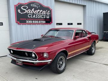 1969 Ford Mustang Marti Report Mach1 V8 Candy Apple Red 1969 Prix tout compris